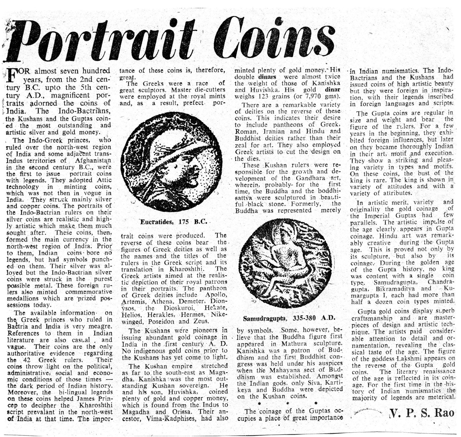 52. Sri VPS Rao on Portrait Coins1.